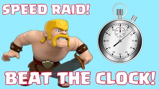 Clash Of Clans SPEED RAID CHALLENGE | Fastest Box Raid Featuring LootCrate And 1UpBox
