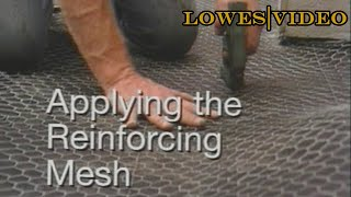 How to Tile a Bathroom Floor: Applying the Reinforcing Mesh