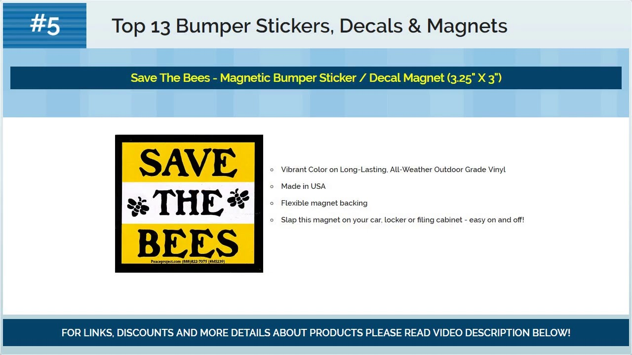 Top 13 bumper stickers decals magnets 2018