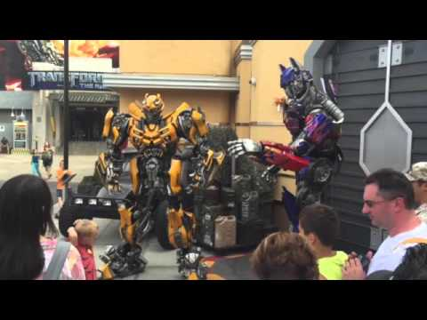 Meet Optimus prime and bumblebee