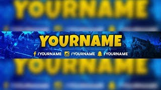 FREE FORTNITE BANNER ON YOUTUBE/FREE FORTNITE YOUTUBE BANNER 02/2019