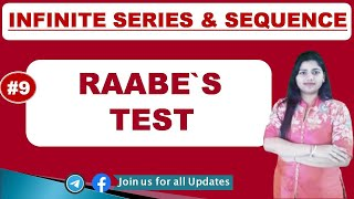Raabe's Test ( Convergent of series ) in Hindi) Test 3