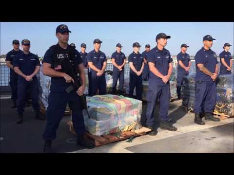 Exclusive: 4-1-17. Coast Guard James Seizes Cocaine & Arrests 22 Drug Smugglers On First Mission.