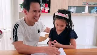 Khi ở nhà, ... ba Lý Hải cũng là thầy giáo!!!