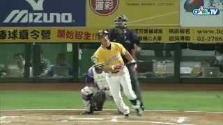 07/31 義大 vs 兄弟 賽後,王勝偉今日精彩表現,擊出完全打擊,也為兄弟拿下五分
