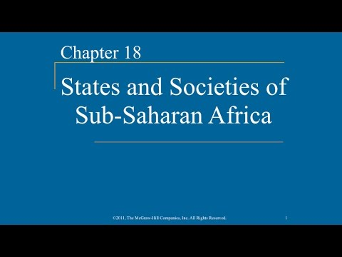 AP World History - Ch.18 - States & Societies of Sub-Saharan Africa