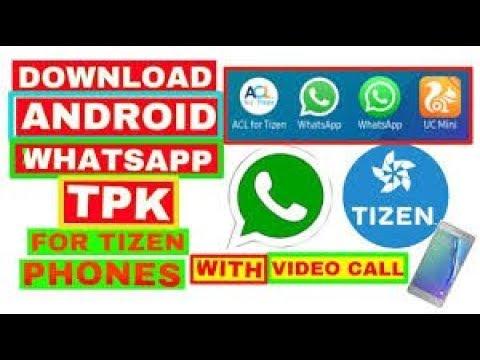 How to Whatsapp tpk Download Samsung z1 z2 z3 z4 Acl 2 2 806 no tpzen
