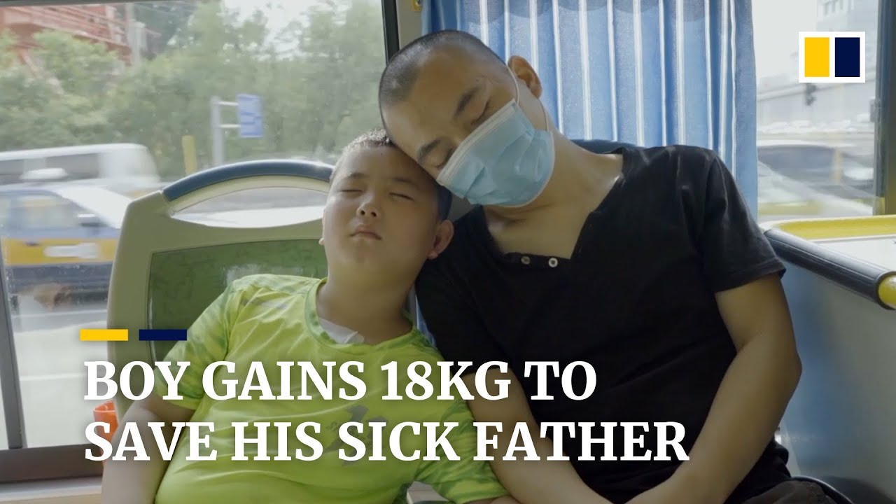Boy gains 18kg to save his father, who has cancer