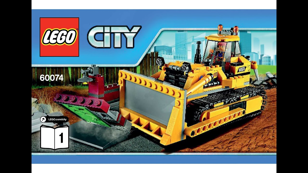 Lego 60074 bulldozer instructions lego city 2015 - Notice de construction lego ...