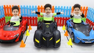 Yusuf and his uncle build a cordless car garage