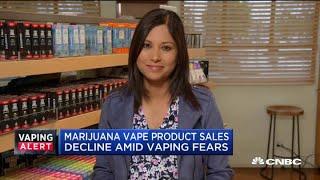 Marijuana vape product sales decline amid health scare