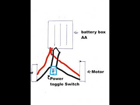 Wiring diagram for robot car to setup the toggle power