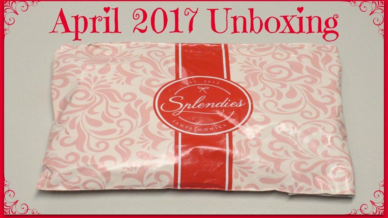 f3a9b42a35157 Splendies Subscription Unboxing - April 2017! - YouTube