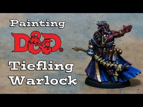 Painting a D&D Reaper Tiefling Warlock