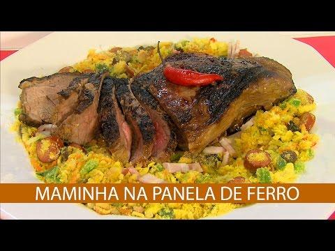 MAMINHA NA PANELA DE FERRO