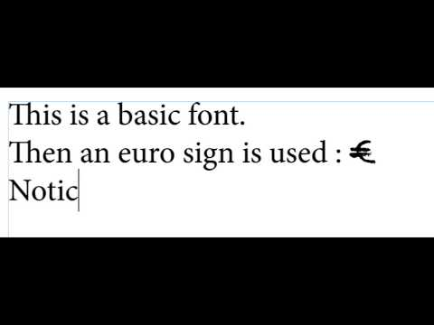 Change Euro Sign font on the fly