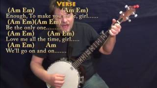 Things We Said Today (The Beatles) Banjo Cover Lesson with Chords/Lyrics