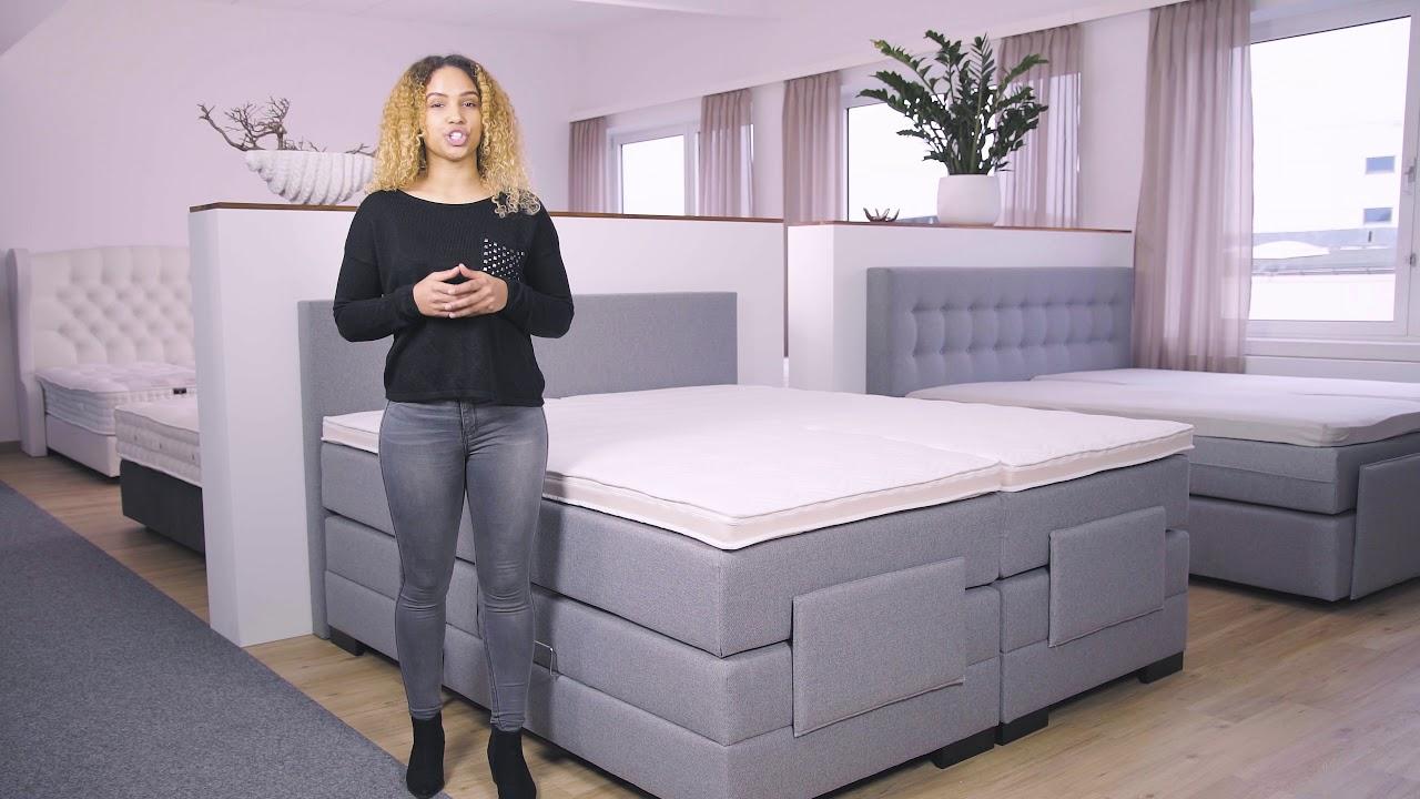 Boxspringbett mit bettkasten elektrisch  Elektrisch verstellbares Boxspringbett mit Bettkasten - YouTube