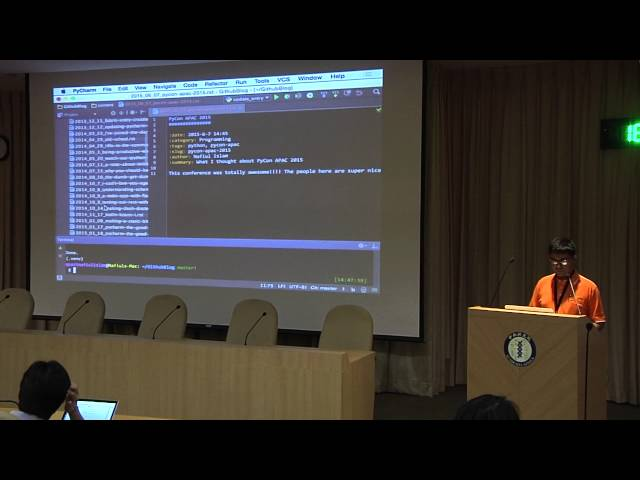 Image from R2 DAY3-04 Building Static Blogs using Pelican - Quazi Nafiul Islam (PyCon APAC 2015)