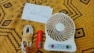Mini Portable Rechargeable Fan (uses 18650 battery)
