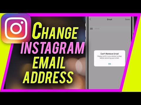 How do i change my instagram email address