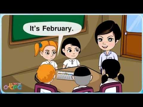 Months (เดือน) - สื่อการเรียนการสอน ภาษาอังกฤษ ป.2