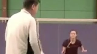 (八)最好的带球步伐训练方法(网前正反手) Badminton Footwork Practice 8