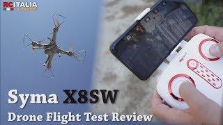 Quadricottero Syma X8SW FPV - Drone Flight Test Review ITA