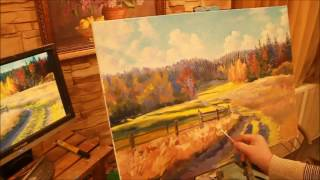 Пишем осень маслом с Александром Гнилицким