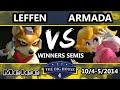 The Big House 4 - Armada (Peach) Vs. Leffen (Fox) - Winners Semis - SSBM