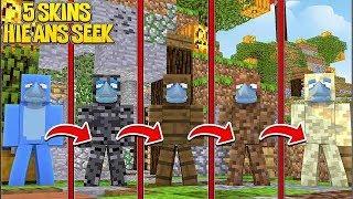 MURDER MYSTERY... 5 SKIN SEEKER CHALLENGE!! Minecraft w/ Little Kelly and Sharky