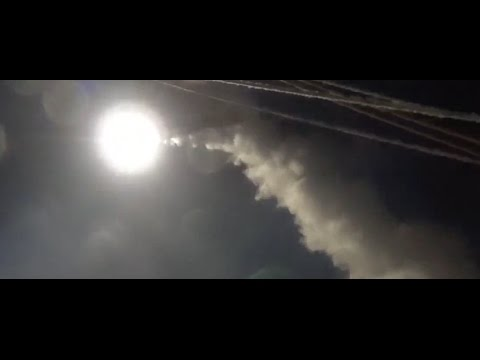 Pentagon video shows the Tomahawk missils launching into Syria