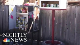 Inspiring America: 'Blessing Boxes' In Texas Town Helping Those In Need | NBC Nightly News