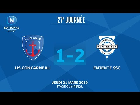J27 : US Concarneau - Entente SSG (1-2), le résumé I National FFF 2018-2019