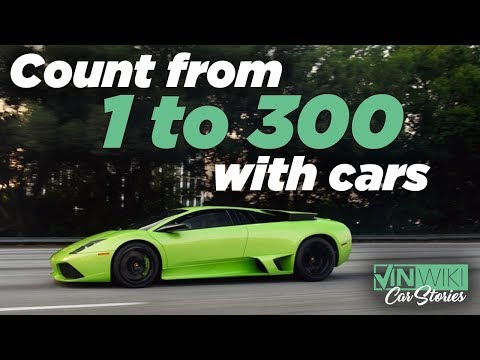 Counting from 1 to 300 with Cars for Kids - 30 mins!