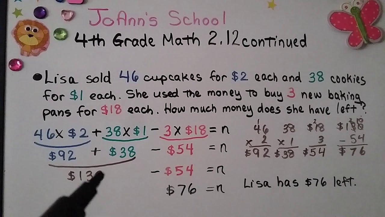 small resolution of 4th Grade Math 2.12