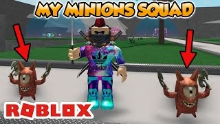 MY MINIONS SQUAD IN ROBLOX (Lucky Blocks Battlegrounds)