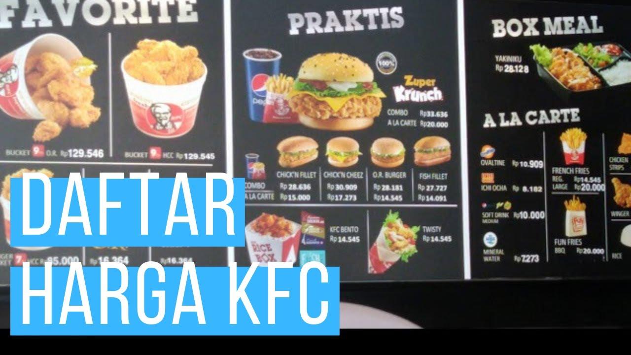 Daftar Harga KFC 2019 - YouTube