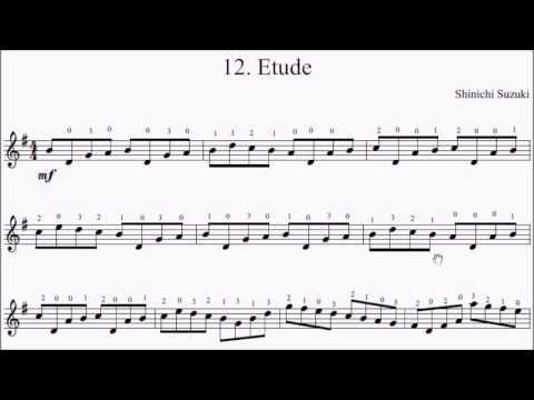 Suzuki Violin Book Etude