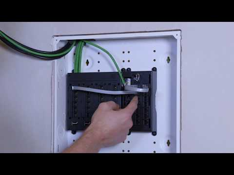 Installing 476TL-T12 – Telephone Line Distribution Module Into Leviton Structured Media Center