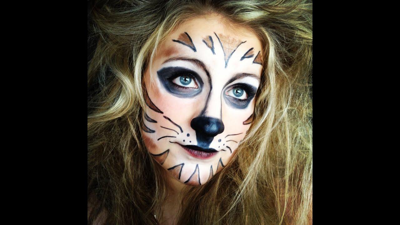 tiger make up mit normaler kosmetik youtube. Black Bedroom Furniture Sets. Home Design Ideas