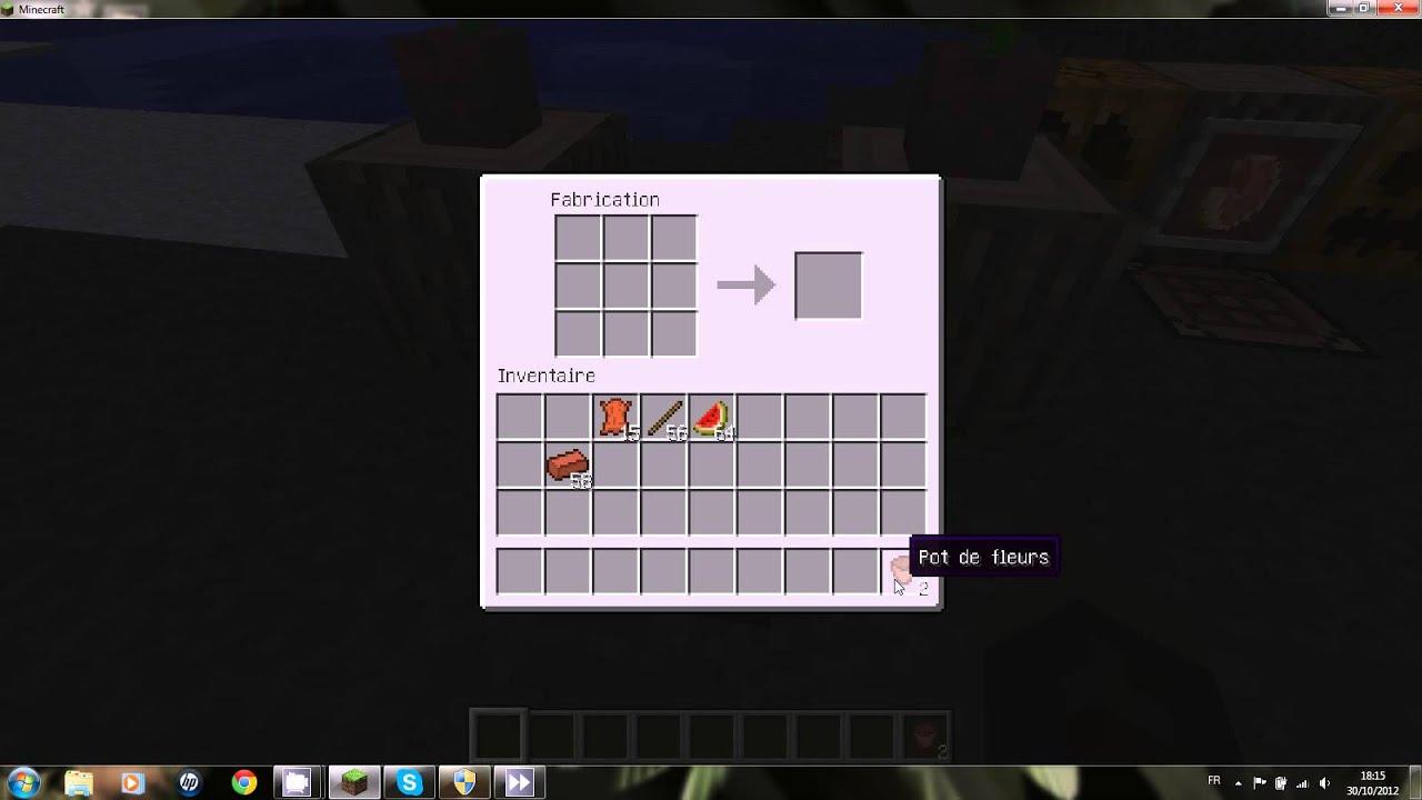minecraft comment crafter un pot