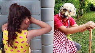Öykü and Grandpa on Kids Family Fun - Hide and Seek - Oyuncak avı Öykü