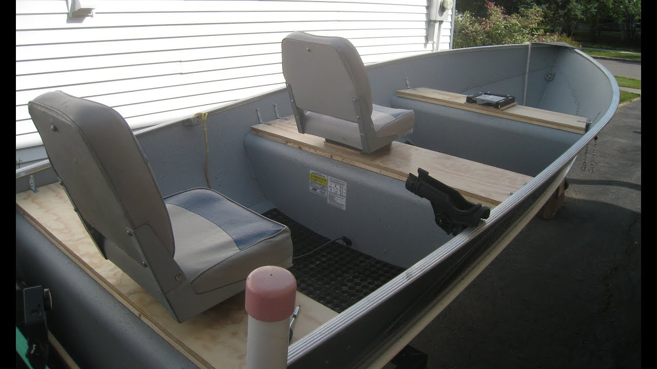 Mounting Boat Seats On A Lund A 14 Youtube