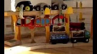 Brio Wooden Train and Sky Train Film