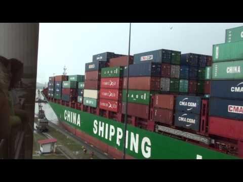 實拍船隻怎樣過巴拿馬運河