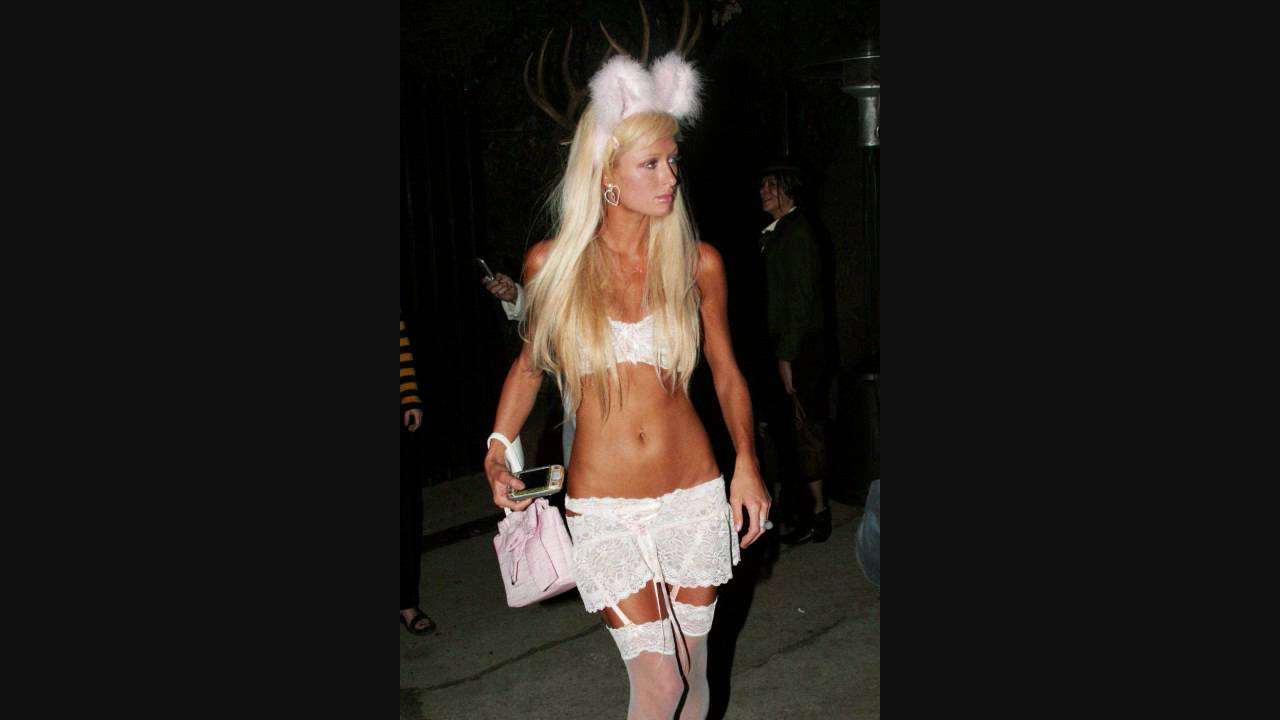 paris hilton at halloween 1 part 1 ( almost naked ) - halloween 2005