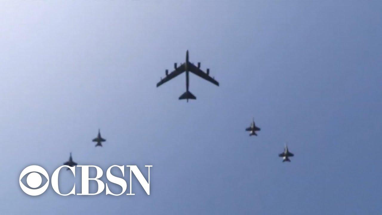 "Download U.S. Navy destroys Iranian drone in ""defensive action"""