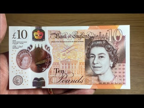 THE NEW £10 NOTE (TEN POUND) || REVIEW *FIRST ON YOUTUBE* || POLYMER || 2017