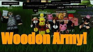 Wooden Sword Army! Islands Roblox!